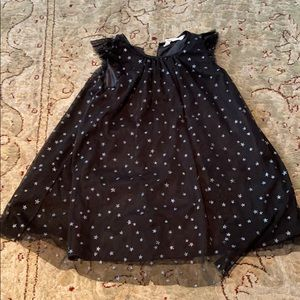 Girls princess dress with silver stars.